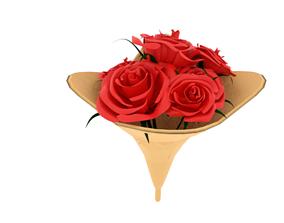 flower 3D asset game-ready Rose Bouquet