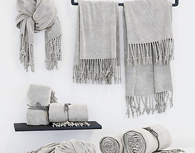 Very soft set of terry towels 3D asset