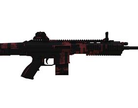 Scar-L rifle Low Poly 3D Modle low-poly