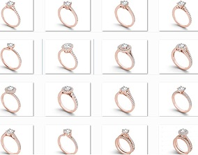 23 Solitaire ring Bulk 3dm stl render detail 3D print