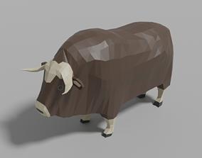 3D asset Cartoon Musk Ox