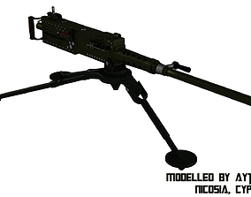 3D model 50 Calibre Machine Gun