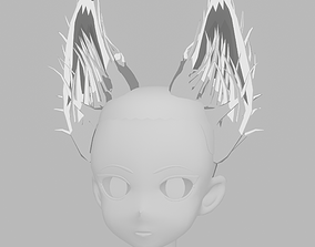 Anime Fox Ears 3D asset