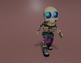 Handpainted Skelet 3D model