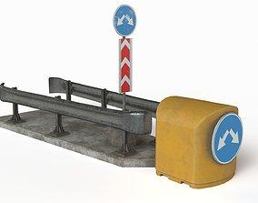 Road safety barrier 3D model realtime