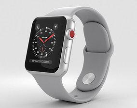 Apple Watch Series 3 38mm GPS Silver Aluminum 3D model 2
