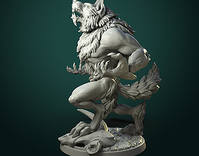 3D print model Furious Werewolf 2 variants
