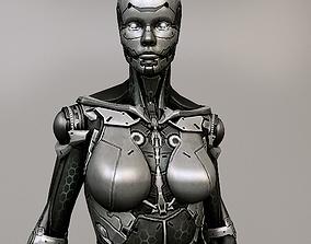 3D model scifi woman