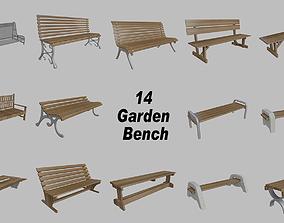 Garden and street bench 3d model