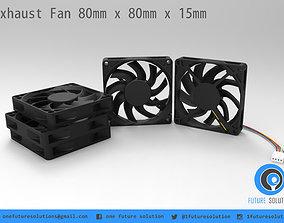 Exhaust Fan 80mm x 80mm x 15mm 3D