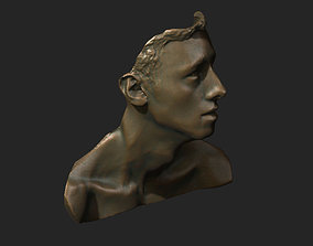 Face and neck study 3D printable model