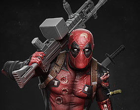 xman Deadpool statue 3D printable model