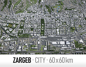 Zagreb - city and surroundings 3D model
