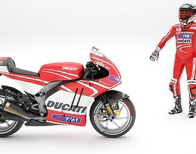 3D model ducati with rider