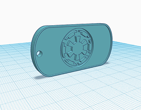 Imperial Dogtag or Keychain 3D printable model
