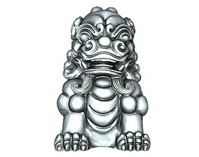 rohan Lion Statue 3D print model