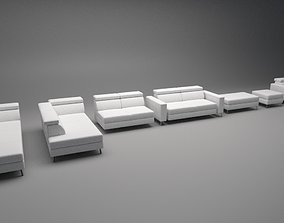 realtime Sofa Assembly Kit Low-poly 3D model