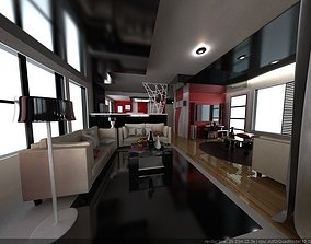 Modern interior IV 3D