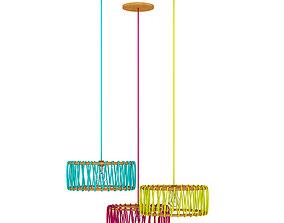 Ceiling Lamps Set 3 3D model