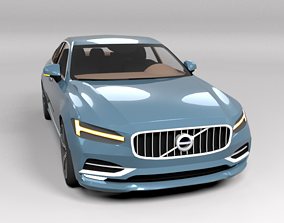 3D asset VOLVO S90 LOWPOLY