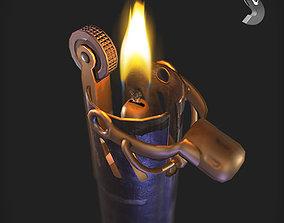 3D asset WWI Lighter