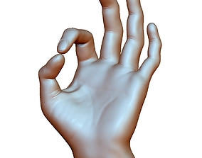 Ok okay sign hand male - 3D printable model