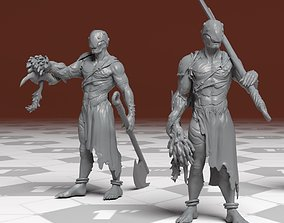 Silent Abomination - 3D Printable Character - 2 Poses