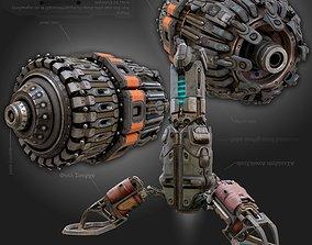sci-fi Cyberpunk parts collection - PBR 3D model