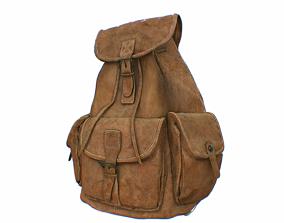 3D asset realtime Leather Backpack