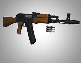 AK-74 with Bullets 3D model
