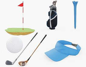 3D model PBR Golf Collection