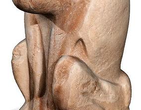 3D model of an Egyptian statue