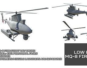 3D model Low Poly MQ-8 Fire Scout UAV Drone