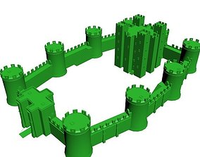 Medieval Castle Low Poly 3D printable model