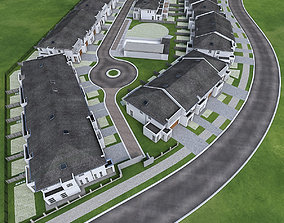 Neighborhood Houses 02 3D model