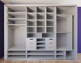 3D asset Wardrobe with sliding doors
