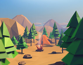 Low Poly Forest Island 3D model