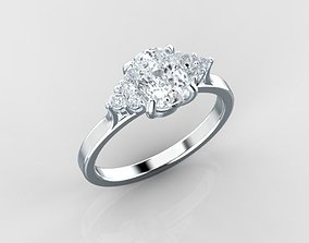 3D print model 0535 Engagement Ring