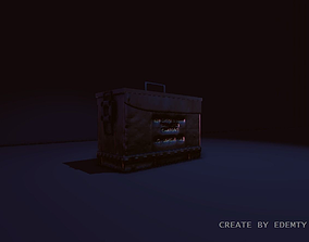 Ammo box 3D model low-poly