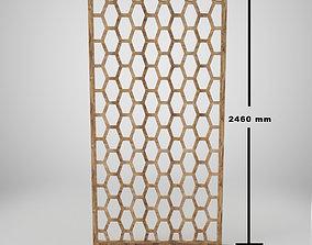 3D asset Wooden Partition - Jali
