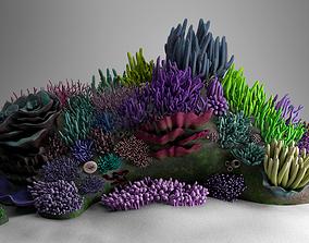 PBR 3D Underwater Coral Reef Habitat Ocean