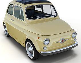 Fiat 500 car 3D model