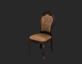 wood Antique Chair 3D model realtime