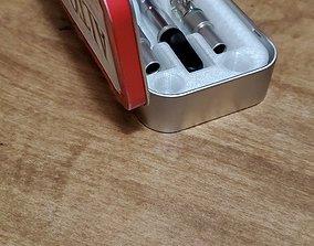 Altoid can sized Dab Cart Holder Insert STL 3D print model