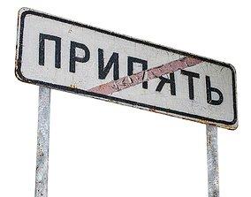 3D asset Street Sign USSR 01 10