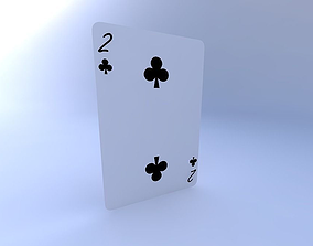Two of Clubs 3D model