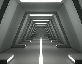 3D asset realtime Sci Fi Corridor fiction