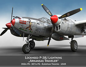 Lockheed P-38 Lightning - Arkansas Traveler 3D