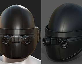 game-ready Helmet scifi military combat 3d model