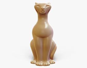 Sitting Cat Figurine 3D print model